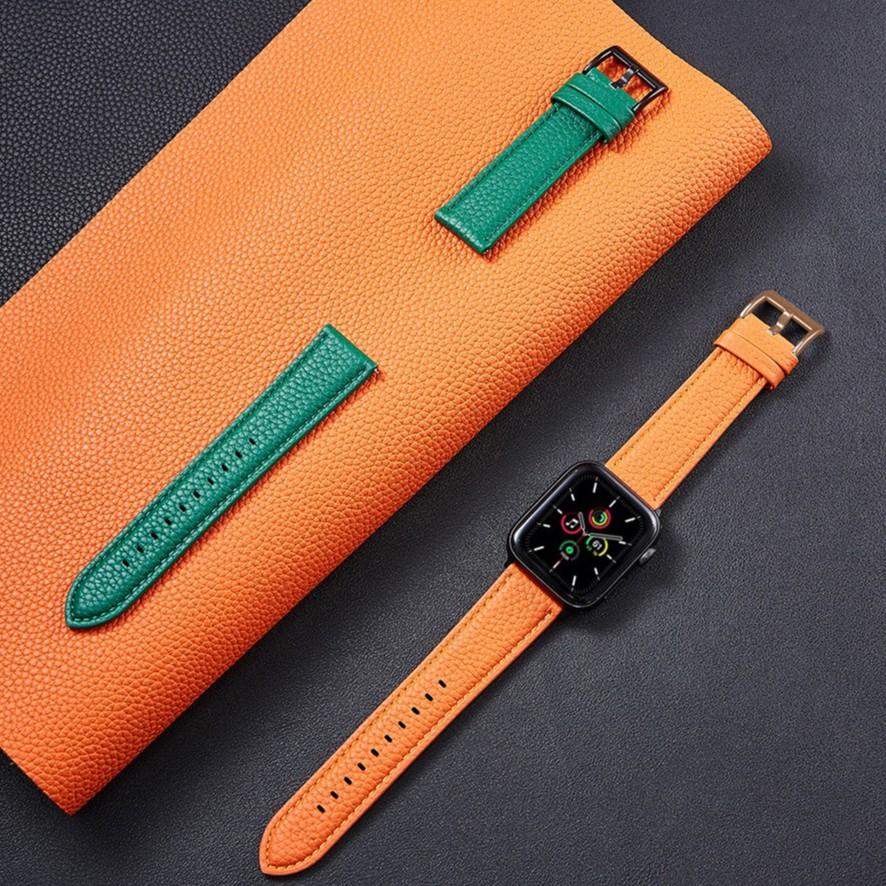 สายนาฬิกาข้อมือหนังสําหรับ Applewatch