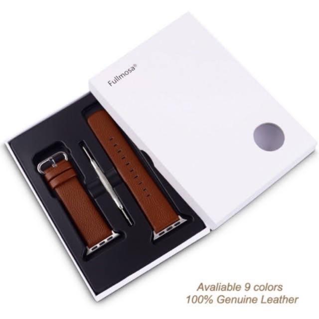 พร้อมส่งจากไทย สาย Apple Watch หนังวัวแท้ 100% (Grade Premium) 38/40 & 42/44mm Apple watch series SE/6/5/4/3/2/1หนังแท้
