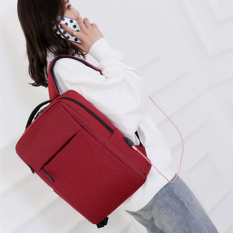 ของใหม่15นิ้วชาร์จกระเป๋าเป้สะพายหลังสำหรับผู้ชายและผู้หญิง 14-กระเป๋าเป้ใส่แล็ปท็อปขนาดนิ้ว 15.6กระเป๋าเดินทางธุรกิจไหล