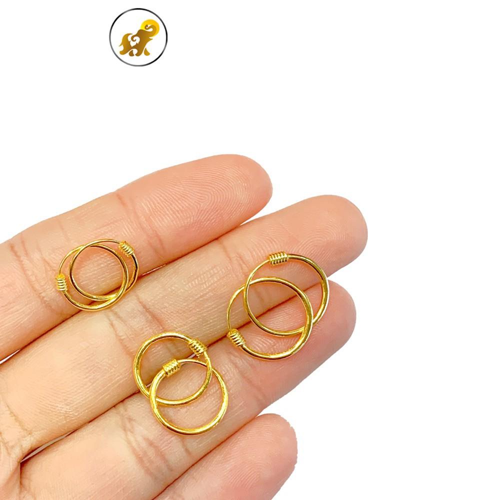 ราคาพิเศษ¤♠✖PGOLD ต่างหูห่วงทอง ต่างหูครึ่งสลึง ต่างหู1กรัม ทองคำแท้ 96.5% มีใบรับประกัน