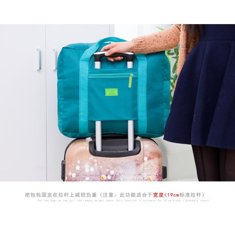 กระเป๋าเดินทาง สำรองผ้าไนล่อน กันฝนพับได้ สอดกับล้อลาก กระเป๋าเดินทาง