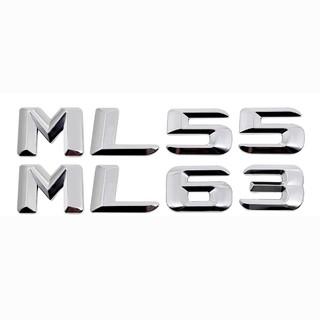 Black Number Letters Words Trunk Badge Emblem Sticker for Mercedes Benz ML55 AMG