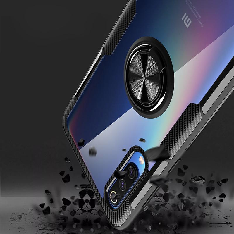 Image # 6 of Review Xiaomi Mi 9 Case Mi9 SE Case Shockproof Armor Tough Transparent Magnetic Ring Stand Hard Cover