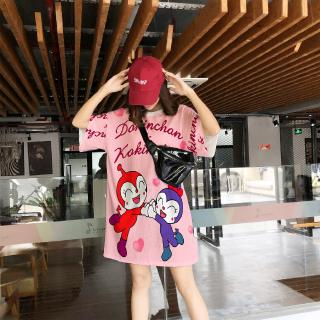 Review Summer Fashion Casual New Korean Version Loose Short Sleeve Top Cartoon Print Women's T-shirt