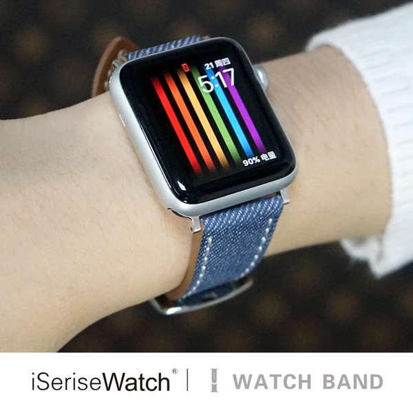 สาย applewatch ใช้ได้กับ Apple Watch ตัวแทนคนหนึ่งที่มีสาย applewatch4 / se สาย iwatch6 สายรัดแบรนด์ไทด์ 1/2/3/5 หนึ่งสา