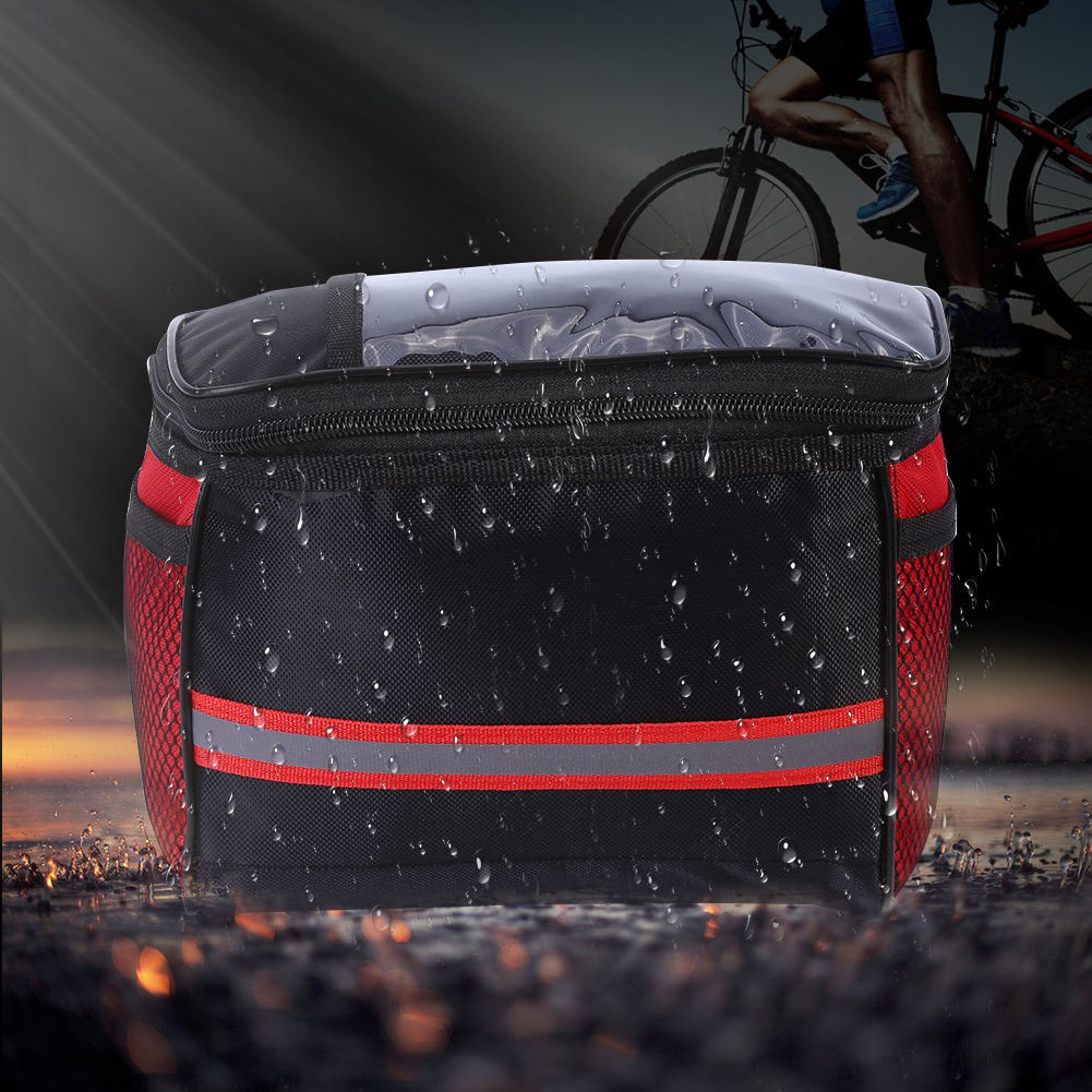 Cycling Bicycle Bike Outdoor Handlebar Bag Pouch Front Basket Pannier Frame Tube