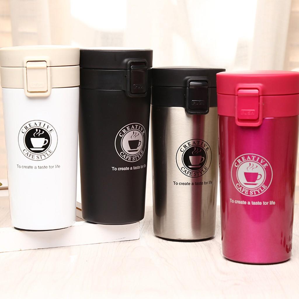 Vacuum Steel Thermo Travel Coffee Stainless Bottle Mug Water Tumbler Flask JcK13TulF