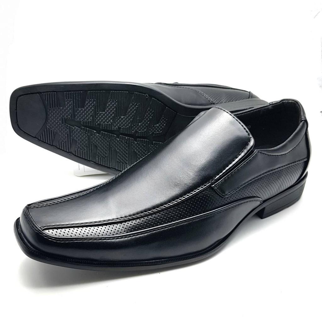 CSB รองเท้าคัชชูหนัง CM675  สีดำไซส์  39-45