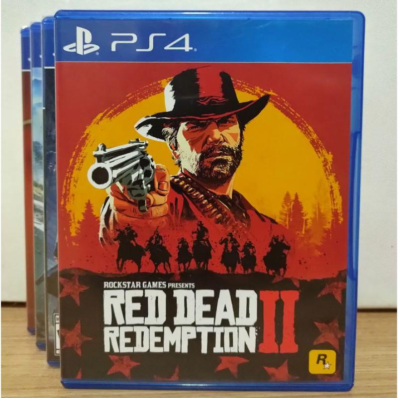 (มือ2) แผ่นเกม Red dead redemption 2 : Ps4 มือสอง สภาพดี