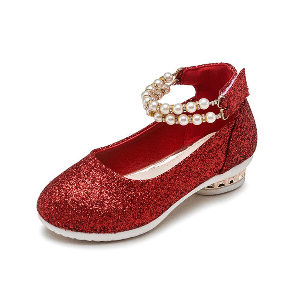 shoe14201 รองเท้าคัชชูเด็กสีแดง รองเท้าคัชชูเด็กเล็ก รองเท้าคัชชูเด็กโต (ยาว=ความยาวพื้นในรองเท้า) รองเท้าออกงานเด็ก B1r