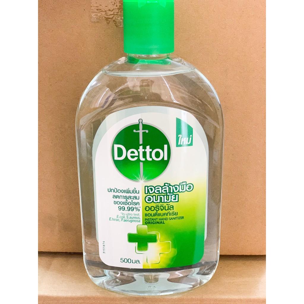 Dettol เดทตอล เจลล้างมืออนามัย ไม่ต้องล้างออก ออริจินัล 500 ml.