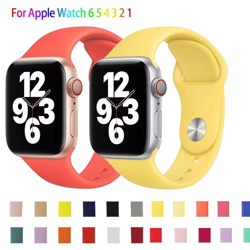 สายนาฬิกา AppleWatch สายซิลิโคน 38 มม.40 มม. Apple Watch Series SE 6 5 4 3 2 1 สีสันหลากหลาย พร้อมส่ง