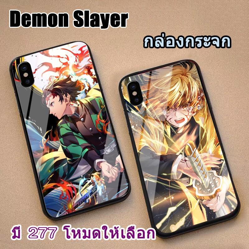 เคส Glass case apple iphone 12 pro max iphone 12 mini iphone 11 pro max iphone x iphonexs max iphonexr iphone8 plus iphone7 plus iphone6 iphone6S plus iphone5 iphone5s iphonese Demon Slayer case