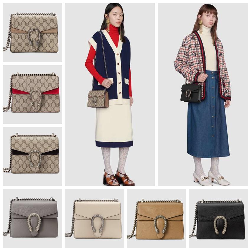 Gucci / Dionysus series GG Supreme canvas shoulder bag