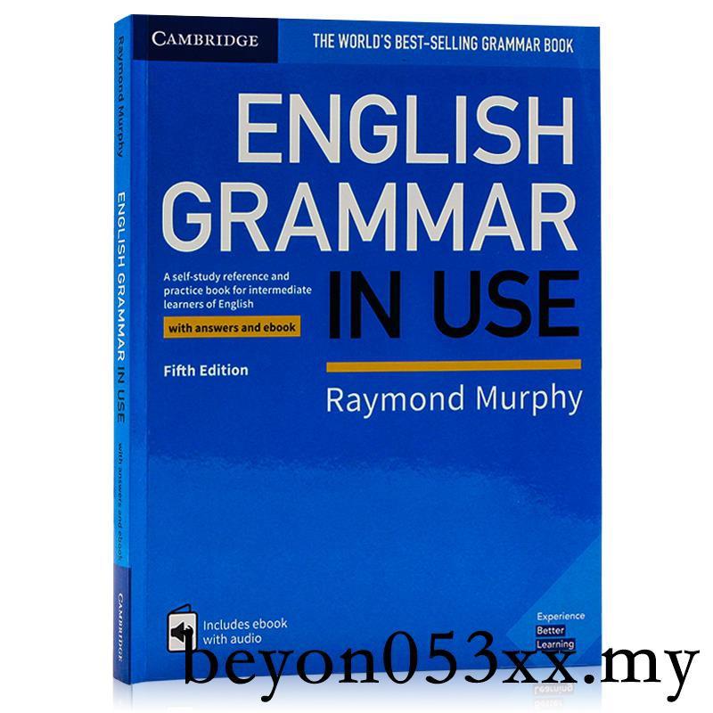 หนังสือภาษาอังกฤษ Grammar in Use Intermediate Cambridge Answers and E-books เวอร์ชั่นภาษาอังกฤษสําหรับฝึกซ้อมการโรงเรียน