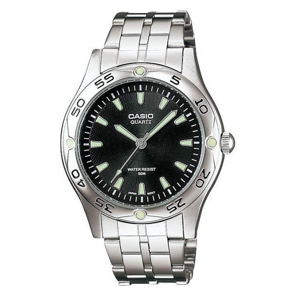 นาฬิกา รุ่น Casio นาฬิกาข้อมือ ผู้ชาย สายสแตนเลส รุ่น MTP-1243D-1A ( Black/Silver ) จากร้าน MIN WATCH