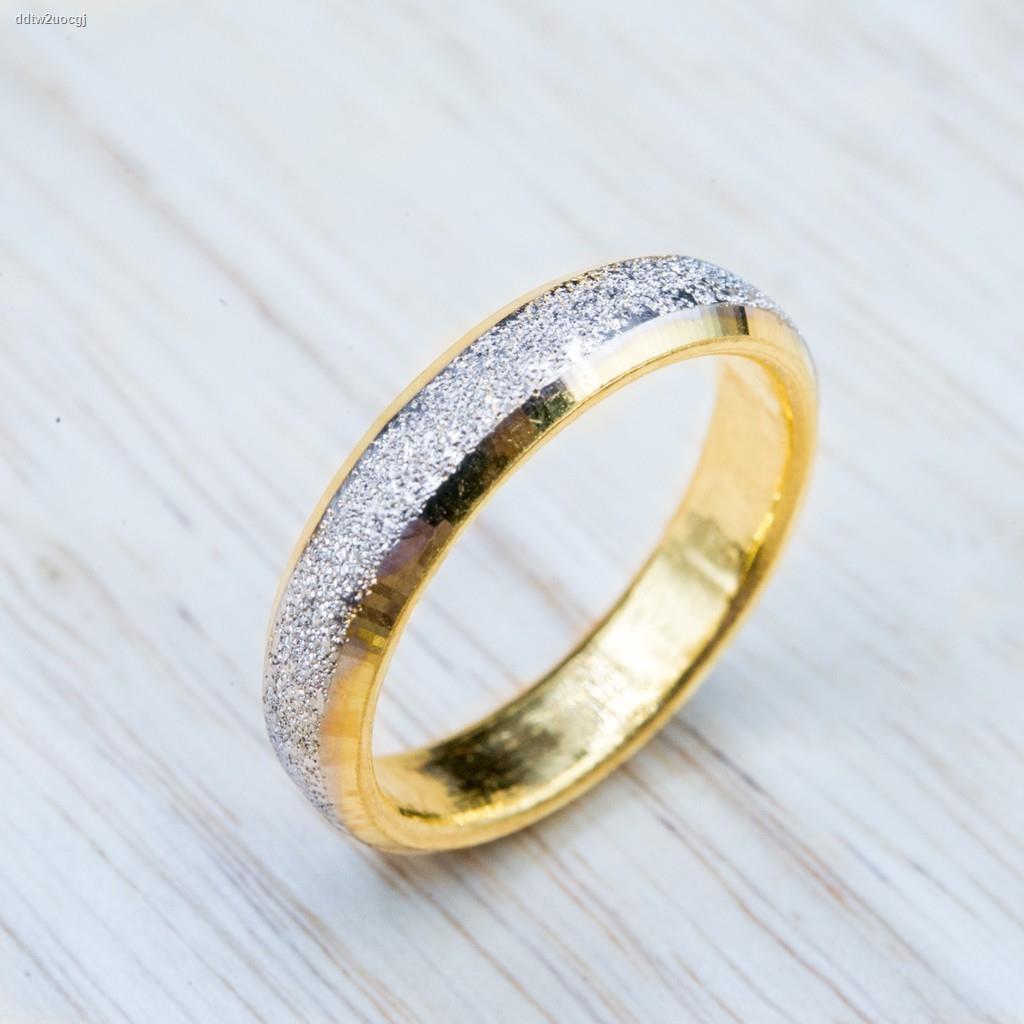 ราคาต่ำสุด✉⭐ แหวนทองจิกเพรช [ชุบสี] น้ำหนัก 1 สลึง
