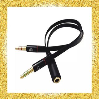 Review 3.5mm Stereo Audio Female to 2 Male Headphone Mic Y Splitter Cable Adapter