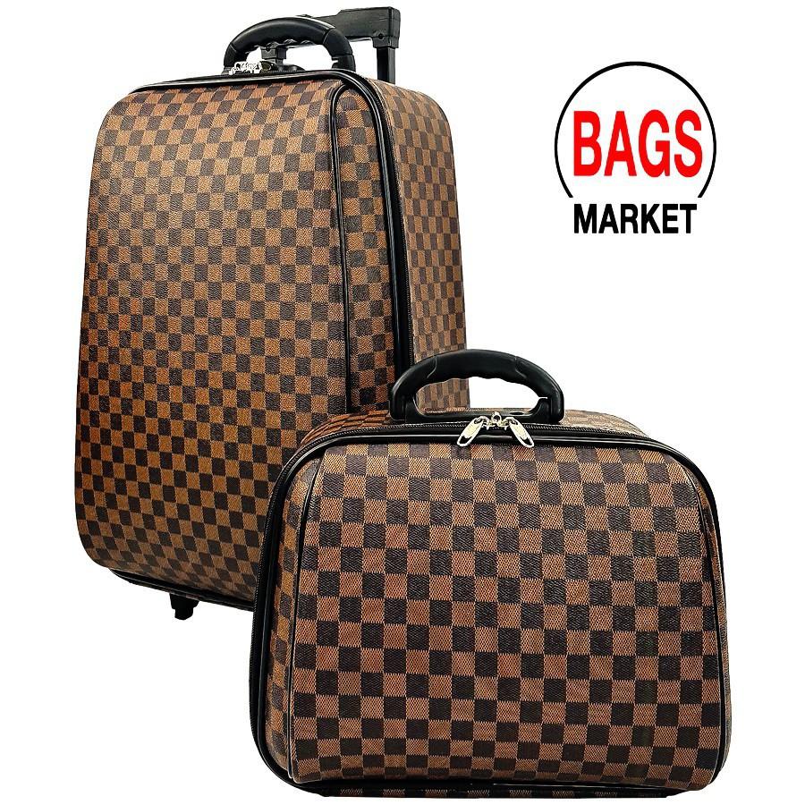 กระเป๋าเดินทาง กระเป๋าเดินทางล้อลาก Wheal เซ็ทคู่18/14 นิ้วL-Pattern Brown Classic ของแท้ กระเป๋าล้อลาก กระเป๋าเดินทาง