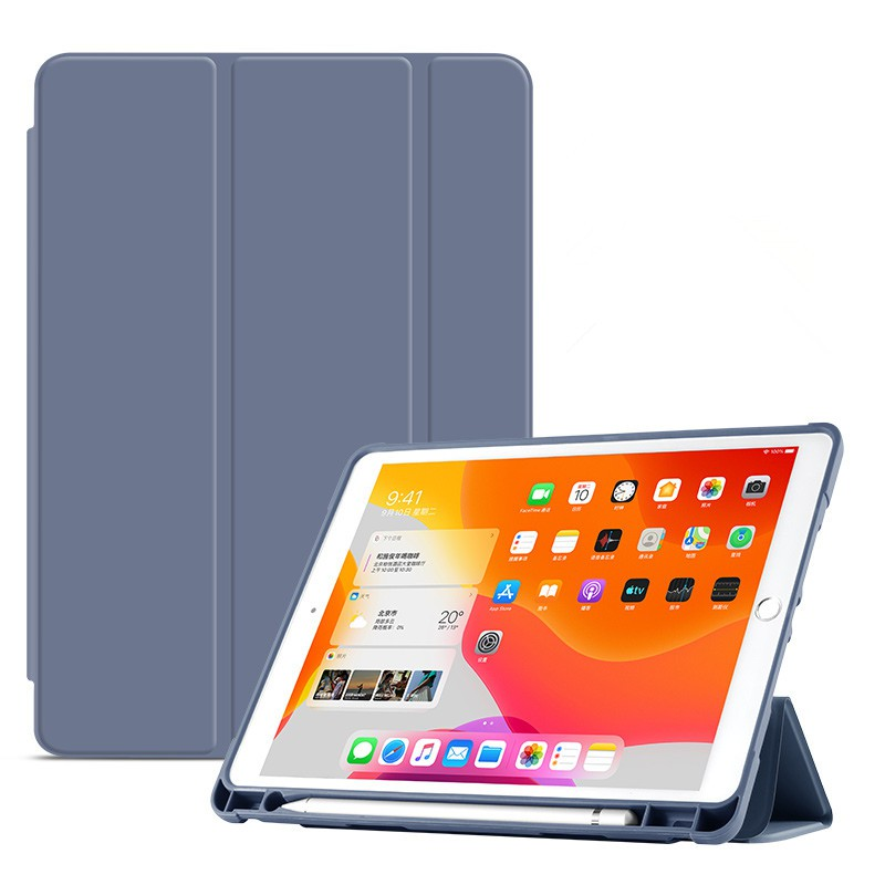 New iPad air3 case with pen slot 10.5 inch new version 10.2 Apple 2018 tablet 9.7 ultra thin Mini 5 lovely pencil silico