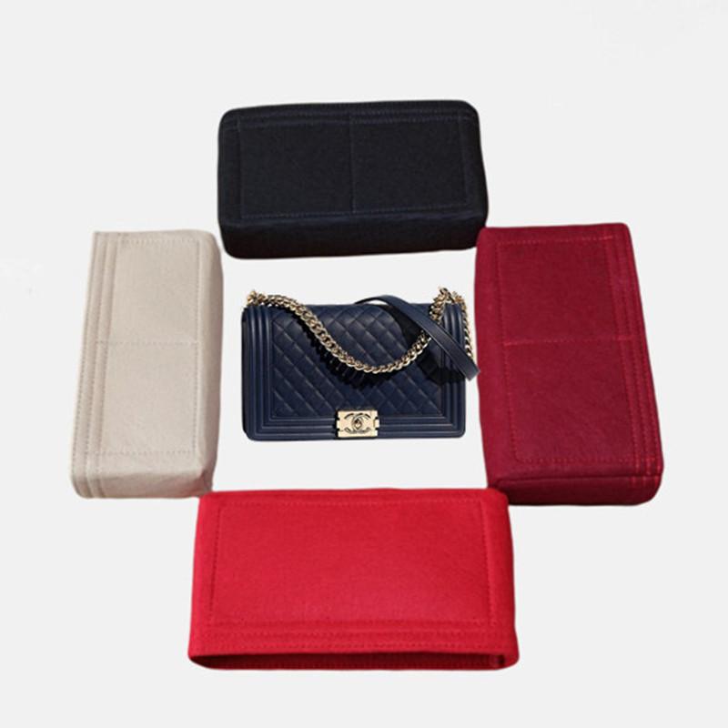 เหมาะสำหรับ Chanel Chanel Boy ปากเรียงรายไปด้วยถุงเก็บกระเป๋าขนาดกลางและขนาดเล็ก