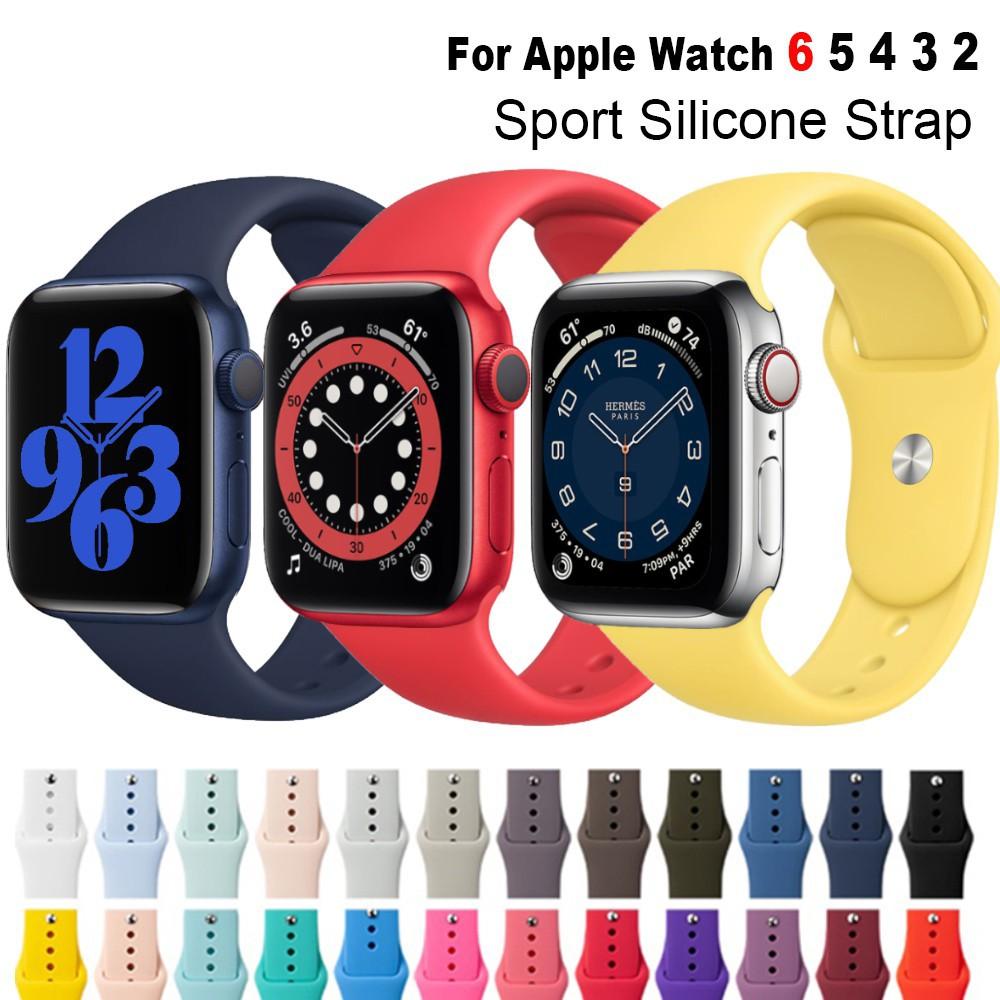สาย applewatch สายนาฬิกา applewatch (50 สีให้เลือก ) สาย apple watch 38มม 40มม 42มม 44มม Strap iwatch series 6 se 5 4 3