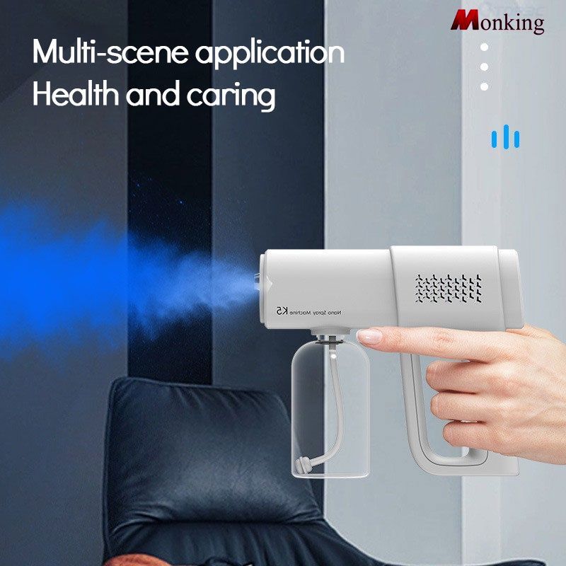 K5 nano spray gun blue light disinfection sprayer rechargeable atomization disinfection gun[M]