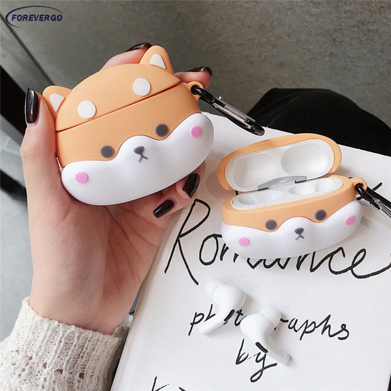 RE Corgi Headset Protective Case Fit For Apple Airpods Wireless Bluetooth Headset Silicone Case