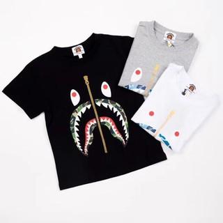 2019 Bape Kids Baby Milo Red Stripe Short Sleeve T-shirt Tops Summer Tee