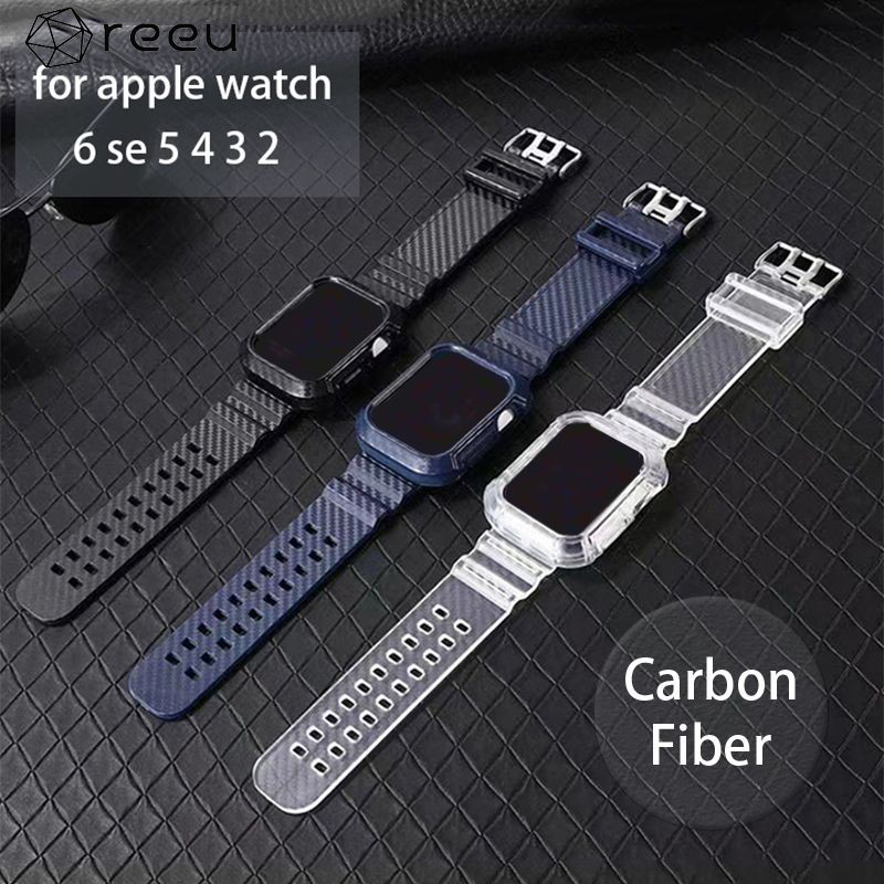 ✦✦ Carbon Fiber Watch Band Case Wrist Strap For Apple Watch Series 6/5/4/3/2/1/SE Ⓡ
