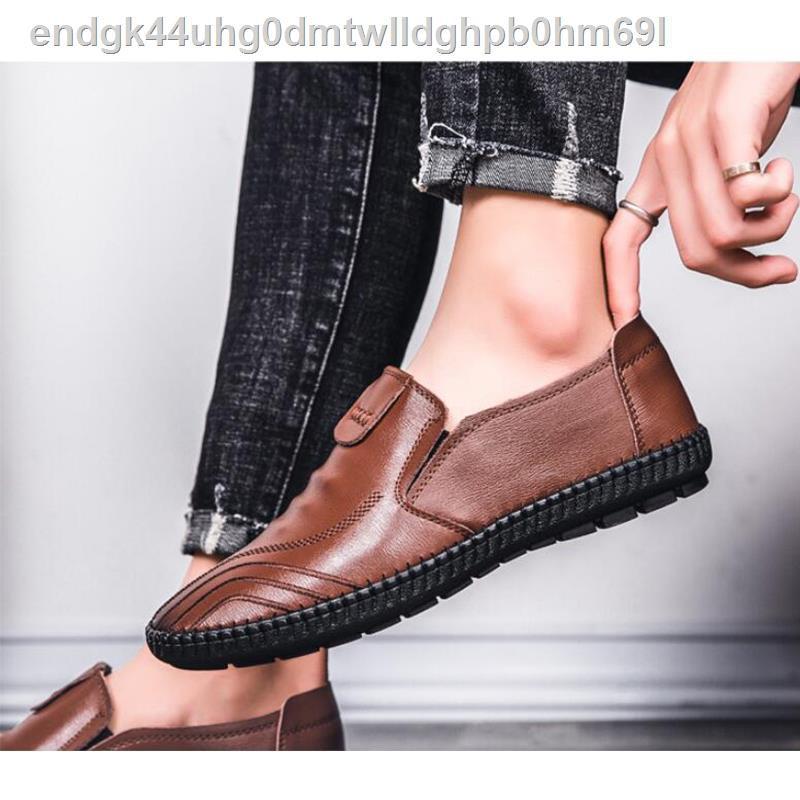 【รองเท้าหนังผู้ชาย】【รองเท้าแตะผู้ชาย】✾♦สำหรับผู้ชายรองเท้าผู้ชายรองเท้าคัชชูงานหนังเทียม (รองเท้าคัชชูงานหนังเทียม)