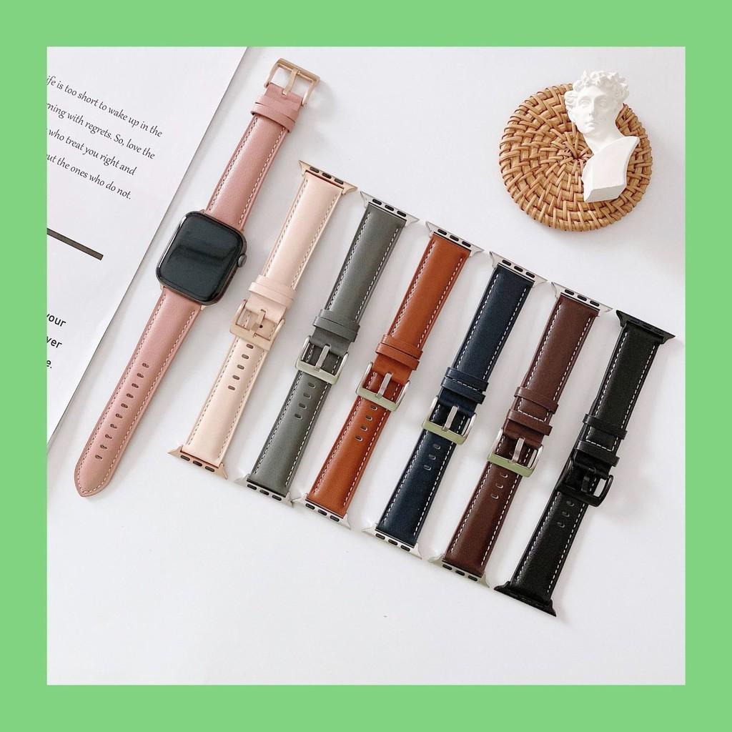 สายนาฬิกาข้อมือหนังสําหรับ Applewatch Iwatch6/se5/4/3