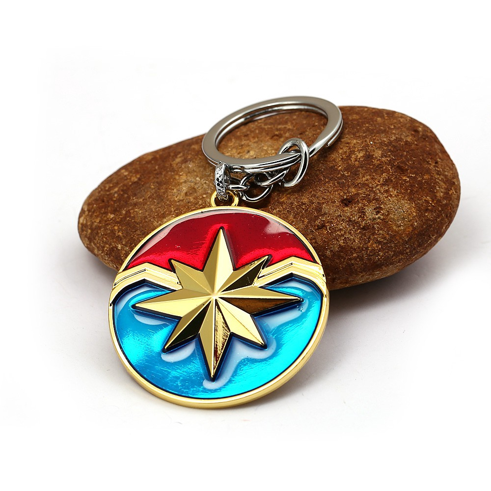 Captain America Keychain The Winter Soldier Enamel Shield keychain KeyRing