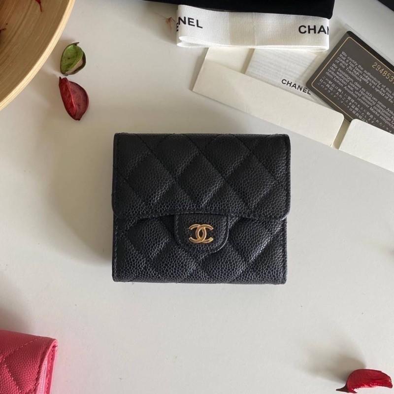 Chanel Classic small wallet cavier skin Original เข้าแล้วค่ะกระเป๋าสตางค์