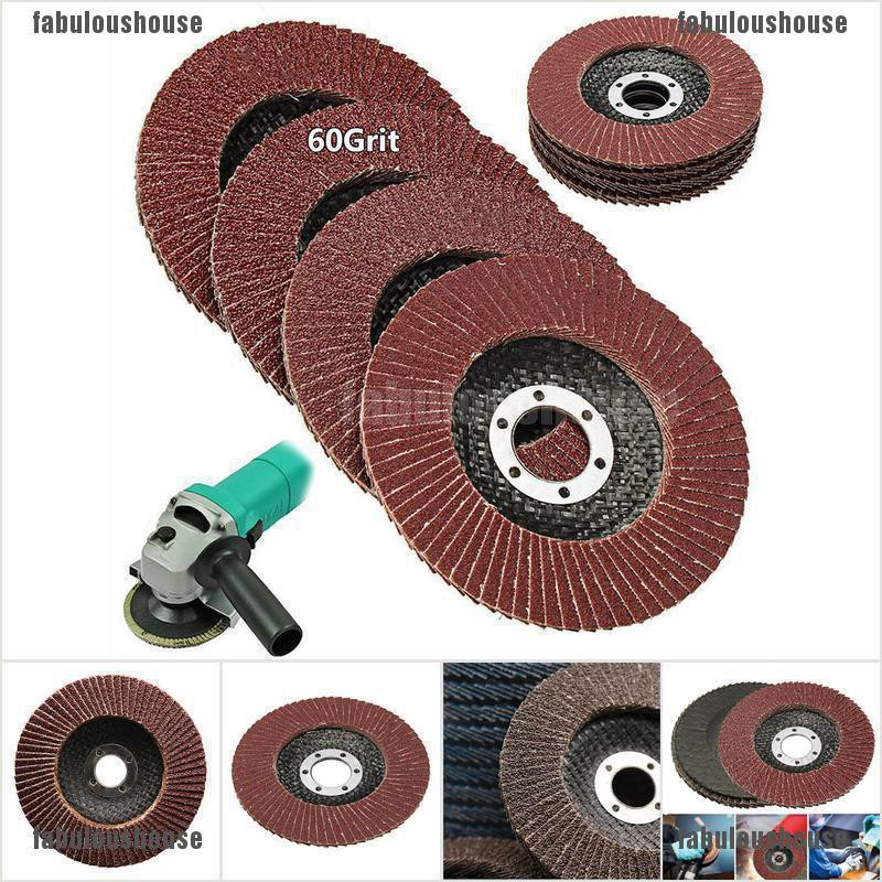 5 x 115mm Flap Disc 40 Grit Angle Grinder Sanding High Quality Aluminium Oxide