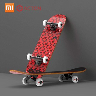 Review 【XM】Xiaomi ACTION B1 13.3cm ABEC-9 Adult Four-Wheel Skateboard Double Snubby Design 80*20cm Maple Deck Skateboard 5 In