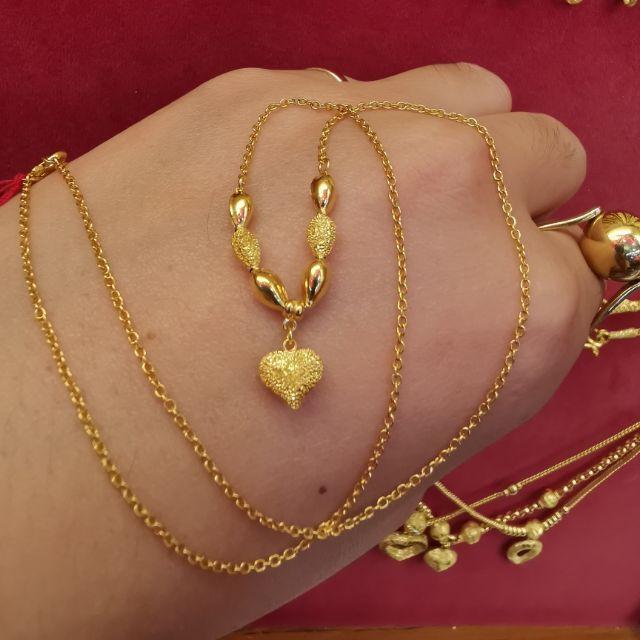  สร้อยคอทอง 96.5%  น้ำหนัก 1 สลึง ยาว 19.5cm ความยาวไม่รวมจี้ ราคา 8,250บาท