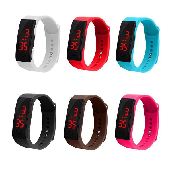 นาฬิกาข้อมือดิจิตอล LED สำหรับเด็ก