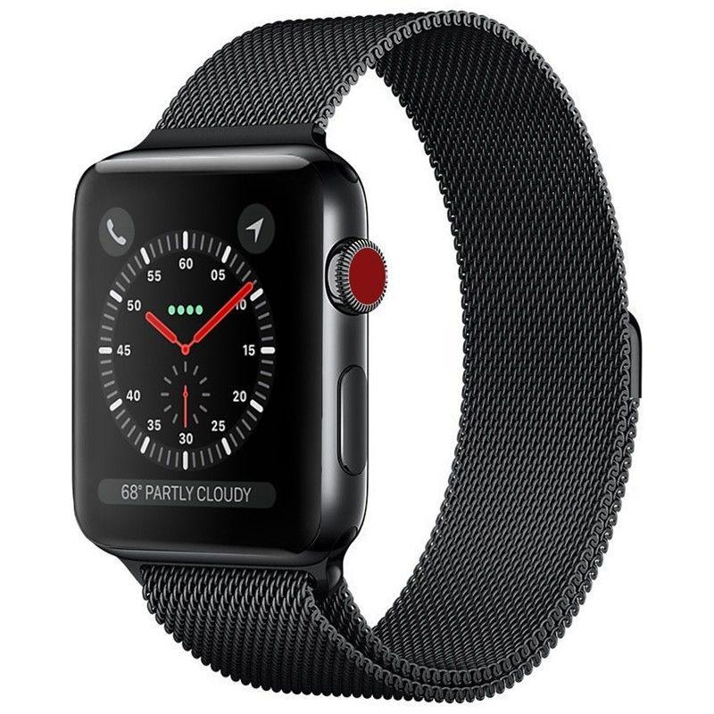 applewatch series 6✁卐☒สาย Apple Watch 3 สาย Applewatch สายสเตนเลสสตีล iwatch loop สายแบบหัวเข็มขัดแม่เหล็ก