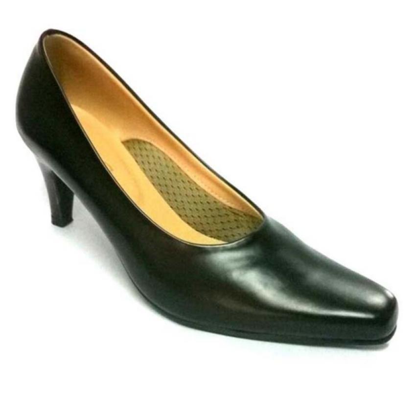 Ruay Tang รองเท้าแฟชั่นคัชชูผู้หญิงส้นสูง ( สีดำ )