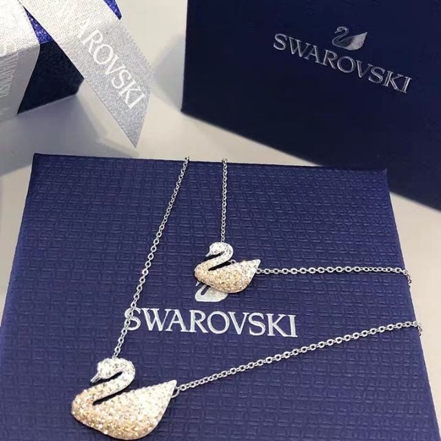 【SALE】พร้อมส่งSwarovskiแท้ สร้อย swarovski ของแท้ ของแท้ 100% สร้อยคอจี้หงส์ swarovski necklace แท้ Swarovski Classi