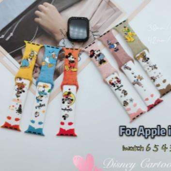 【17 แบบ】โดนัลด์ดั๊ก Apple Watch strap ซิลิโคนเหลว สายนาฬิกาข้อมือ iWatch Series SE 6 5 4 3 2 1สาย applewatch 38 40 42 44