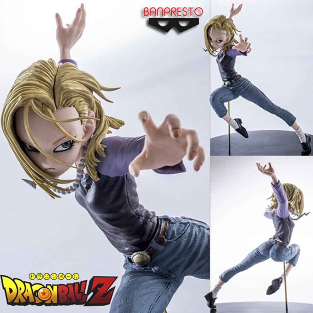 Figure ฟิกเกอร์ Model โมเดล Dragon Ball Z Android 18 หมายเลข 18 Lazuli ลาซูลิ
