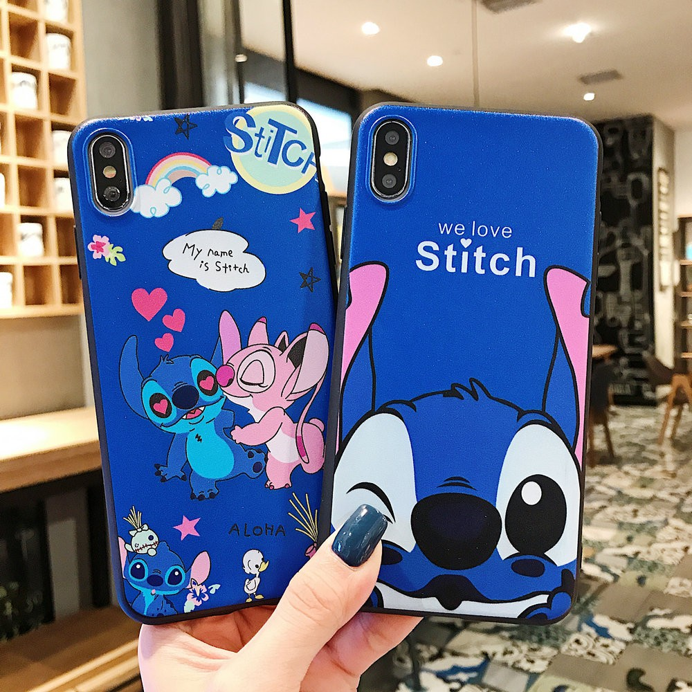 เคส Samsung A21s M11 A11 A71 A51 A70 A50 A30 A20 A10 A10s A6 A6+ A7 A9 J8 J7 J6 J5 J4 J2 Prime Pro Plus 2018 Cartoon Stitch Soft case Cover / HXD