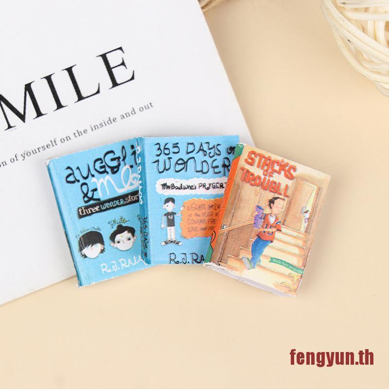 FENGYUN 1:12 Dollhouse Miniature Books Paper Notebook Model Doll House Furniture Decor