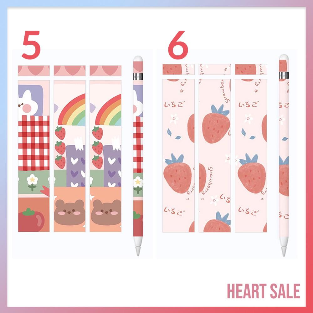 ✅🔥💥▽❡(พร้อมส่ง!) สติ๊กเกอร์ Sticker Apple Pencil รุ่น 1/2 ( 12 ลายสุดน่ารัก )