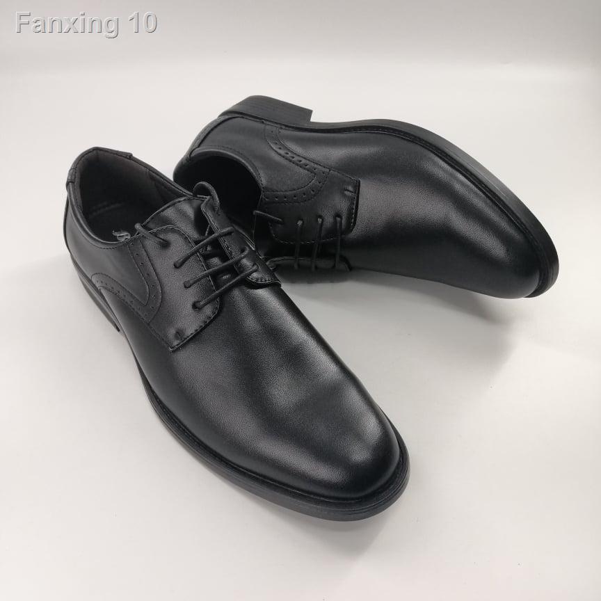 เตรียมส่งของ!✥❖☽(4112-6112) Bata รองเท้าหนังคัชชูผู้ชายบาจาสีดำ, เบอร์ 5-11 (38-46) รุ่น 821-4112, 821-6112
