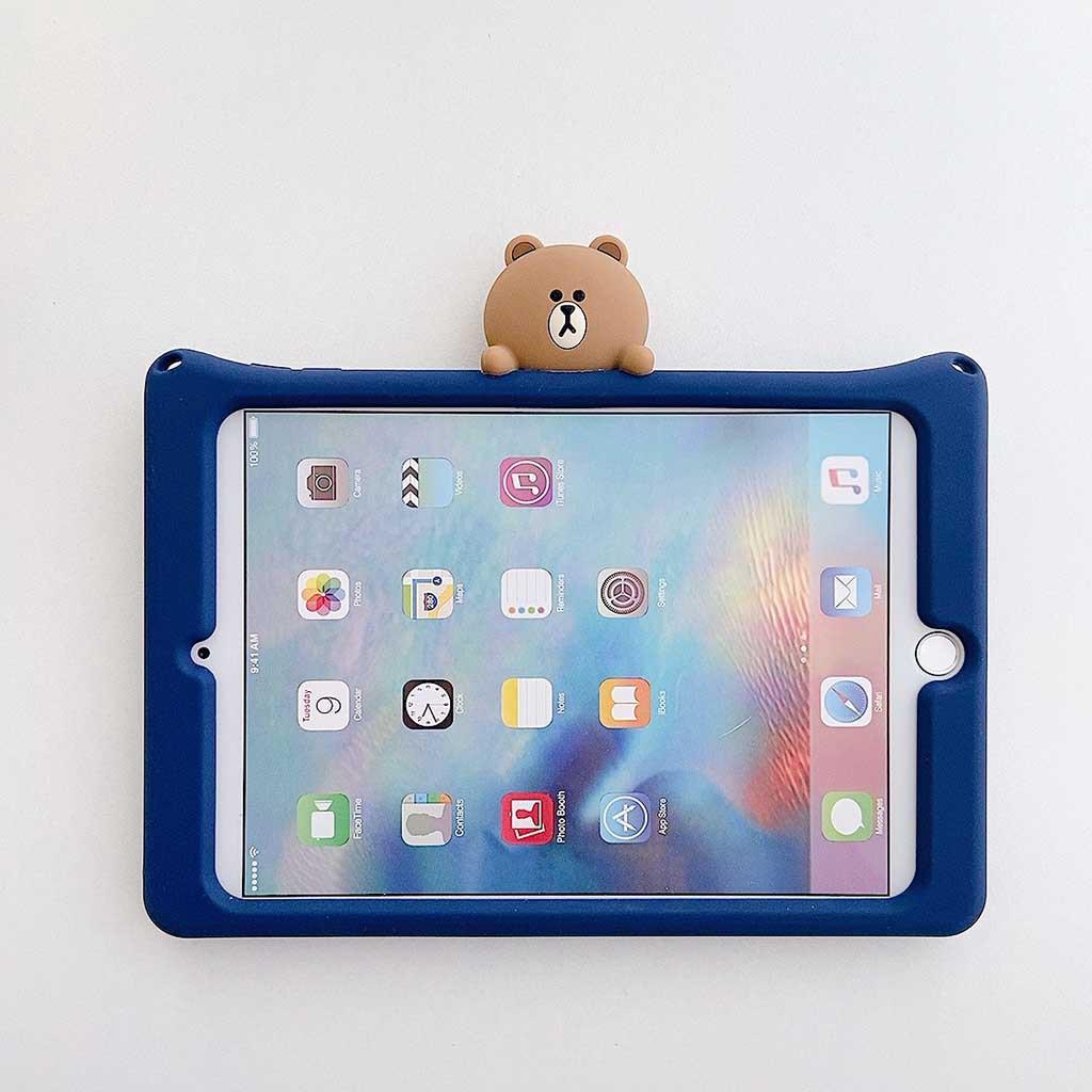 """สาย applewatch สายนาฬิกา applewatch For Apple ipad  Air2  9.7 """" Silicone Case Bracket with Strap Bear Cover"""