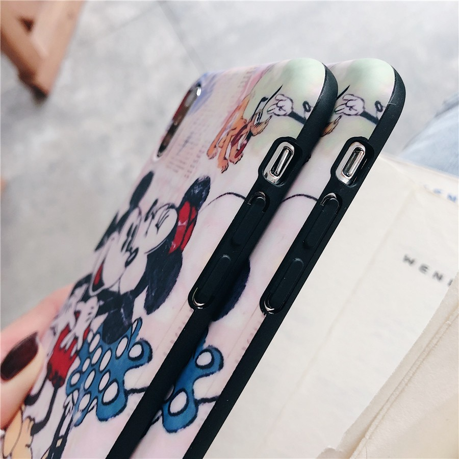 Image # 2 of Review เคสไอโฟน iPhone X XS Max XR iPhone 7 8 Plus iPhone 6 6S Plus Cartoon Mickey & Minnie Matte Soft Case