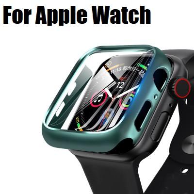 เคส นาฬิกาApple Watch ขนาด 38 มม. 40 มม. 42 มม. 44 มม. glass+pc สำหรับ iWatch Series 6/5/4/3/2/1 / Apple Watch SE PC Hard Apple watch Case